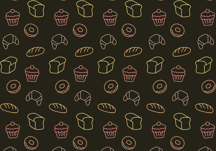 Cute Girly Pattern Wallpapers Free Bakery Pattern Vector Download Free Vector Art