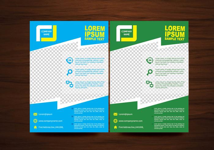 Vector Brochure Flyer Layout Template - Download Free Vector Art