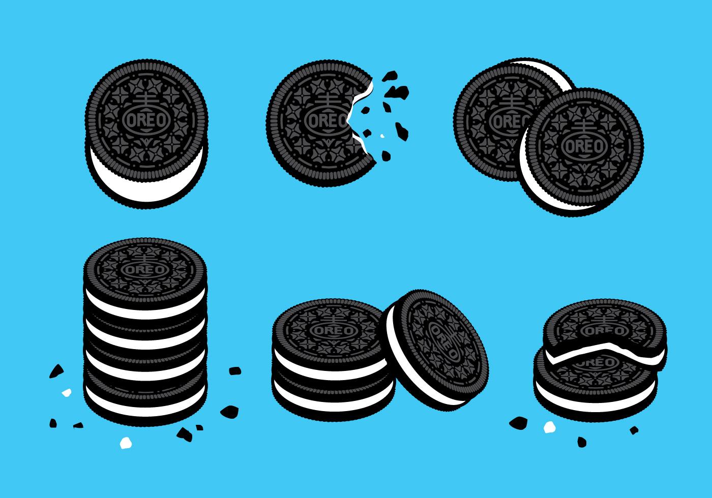 Black Wallpaper Border Oreo Cookies Vector Download Free Vector Art Stock