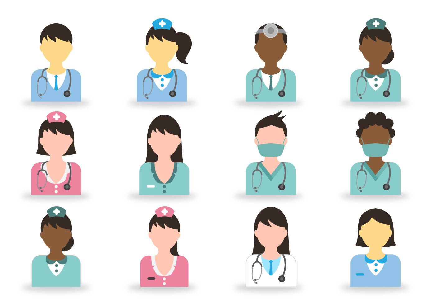 Doctor And Nurse Icon Download Free Vector Art Stock