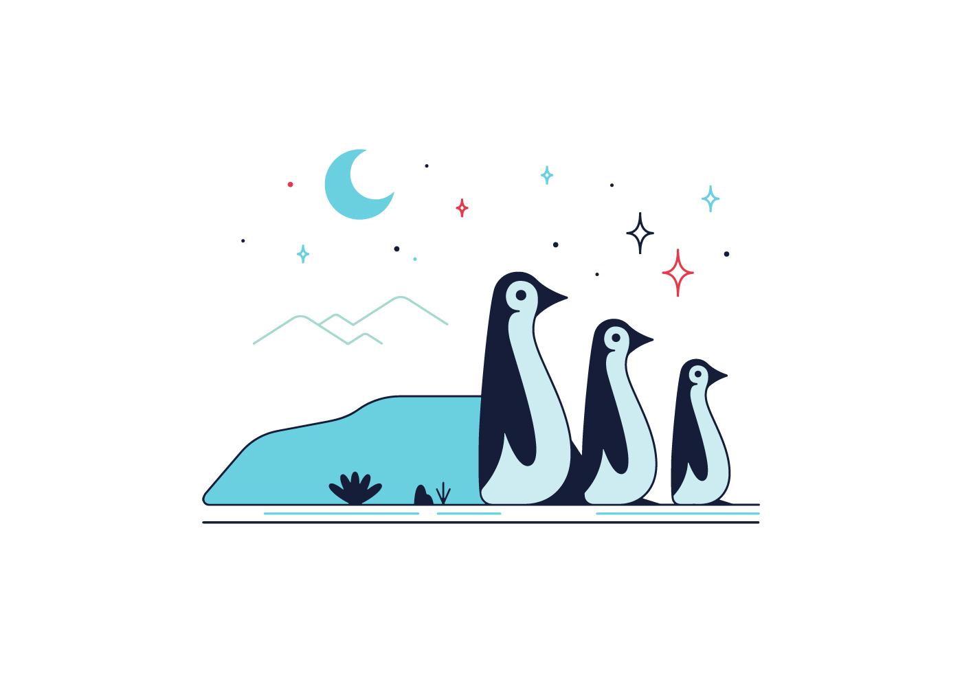 Cute Penguin Wallpaper Cartoon Free Penguins Vector Download Free Vector Art Stock