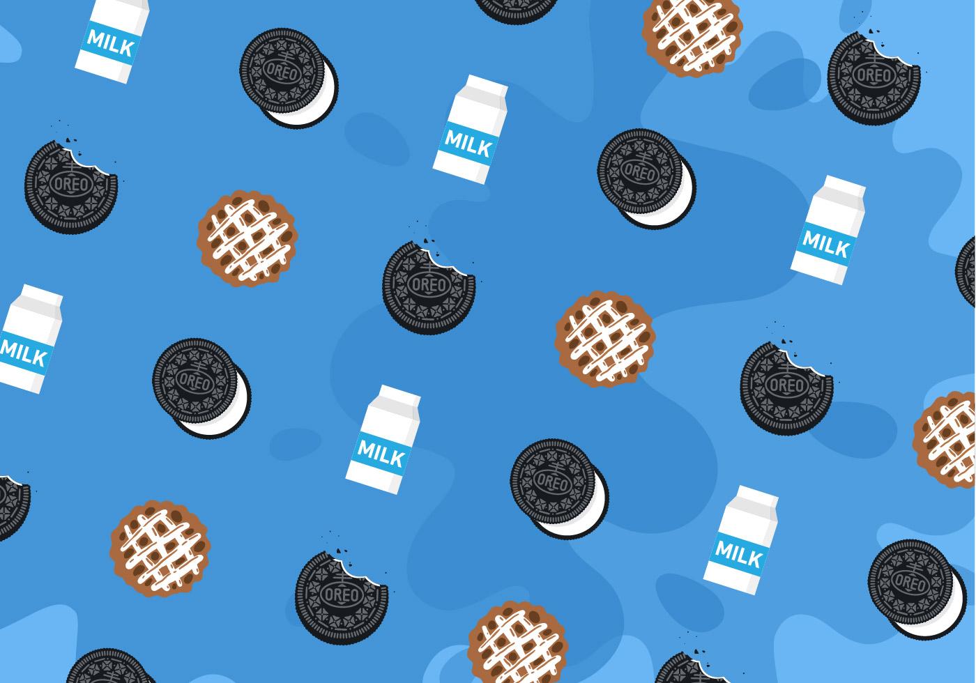 Cute Bakery Wallpaper Oreo Pattern Vector Download Free Vector Art Stock