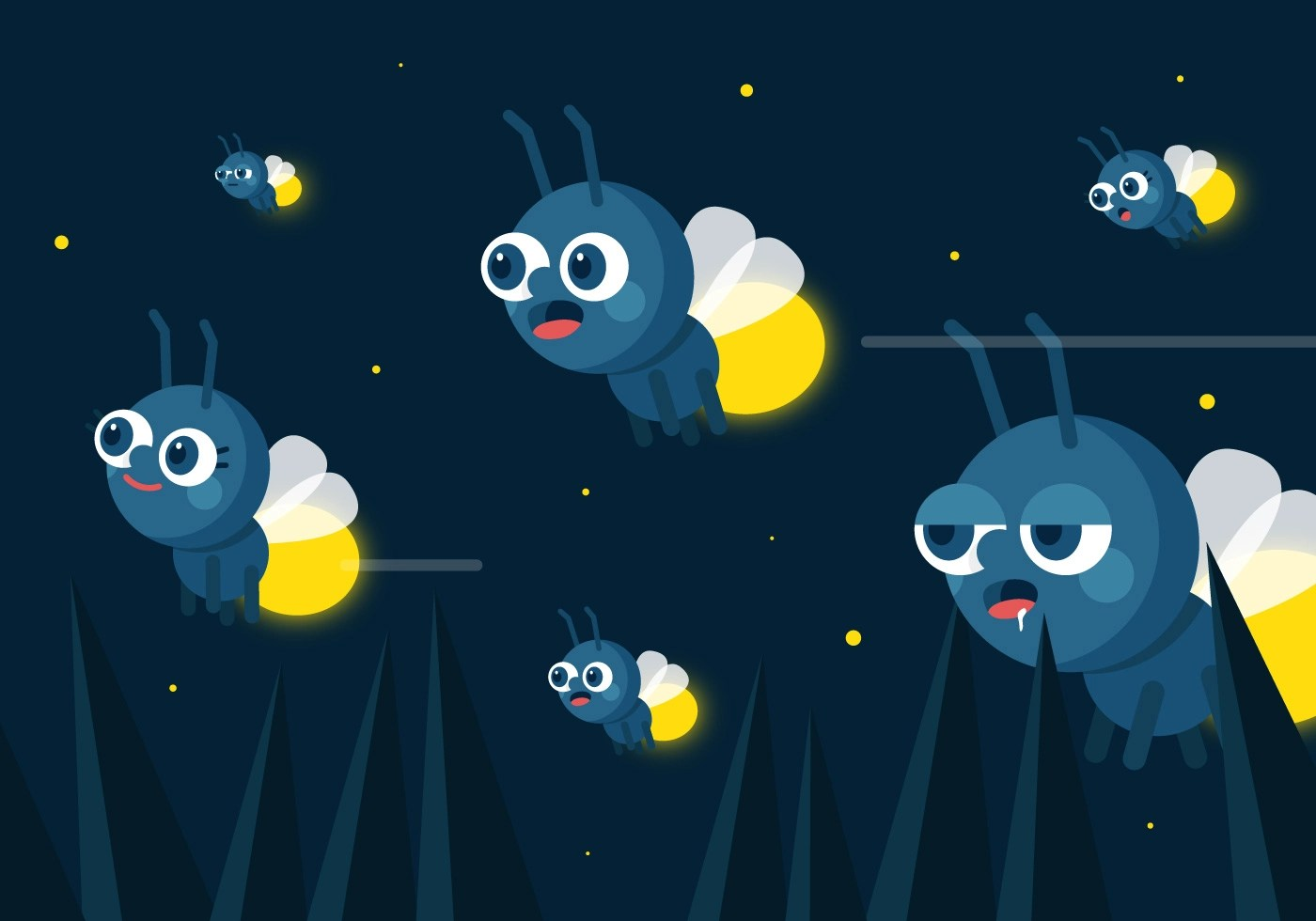 Animation Wallpaper Hd Free Download Vector Fireflies Download Free Vector Art Stock