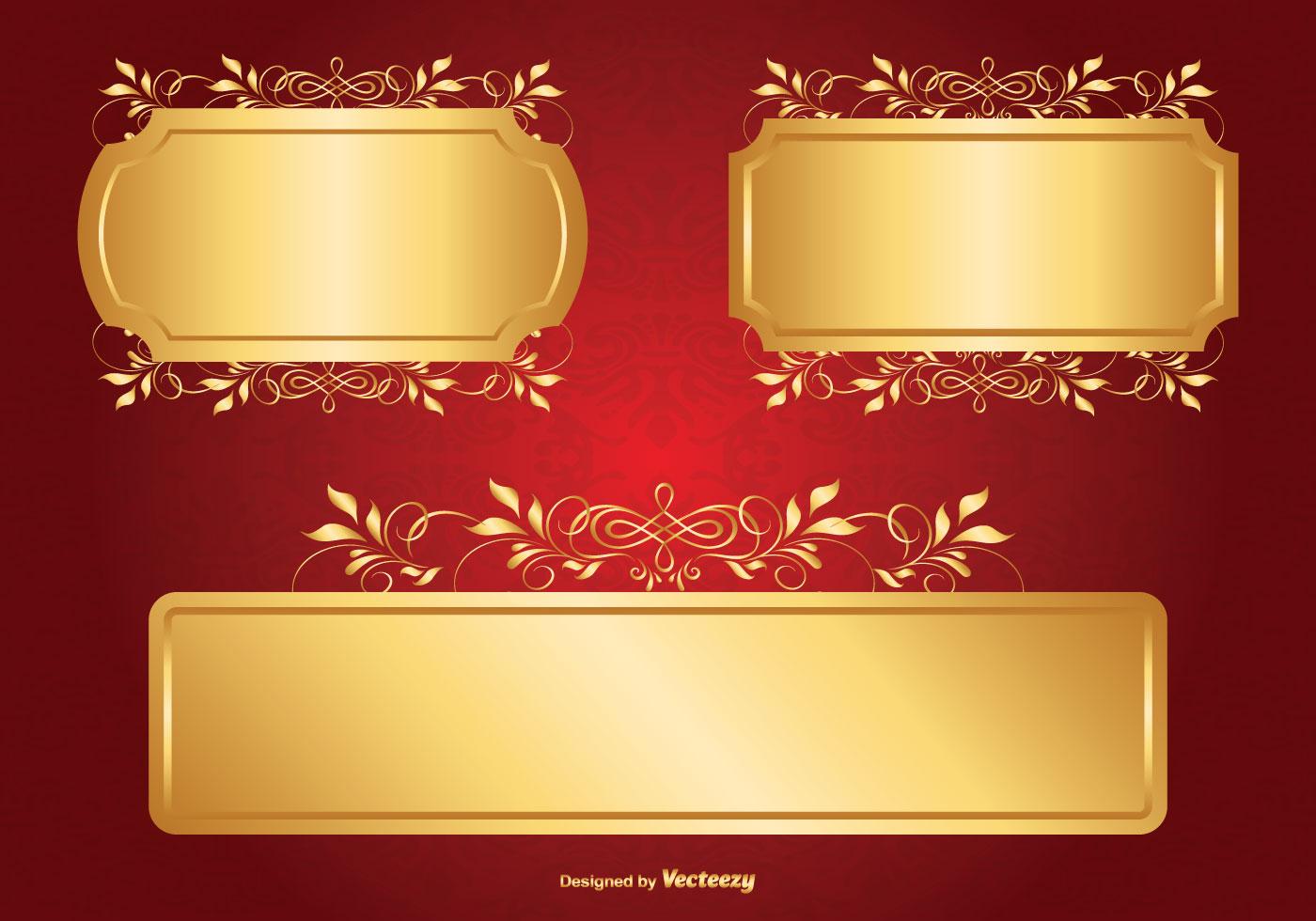 3d Silk Effect Wallpaper Gold Label Free Vector Art 10782 Free Downloads