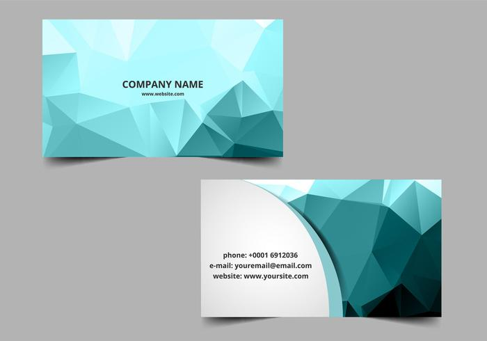 Vector Polygon Visiting Card - Download Free Vector Art, Stock