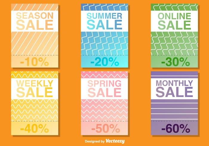 Seasonal Sale Poster Vector Templates - Download Free Vector Art
