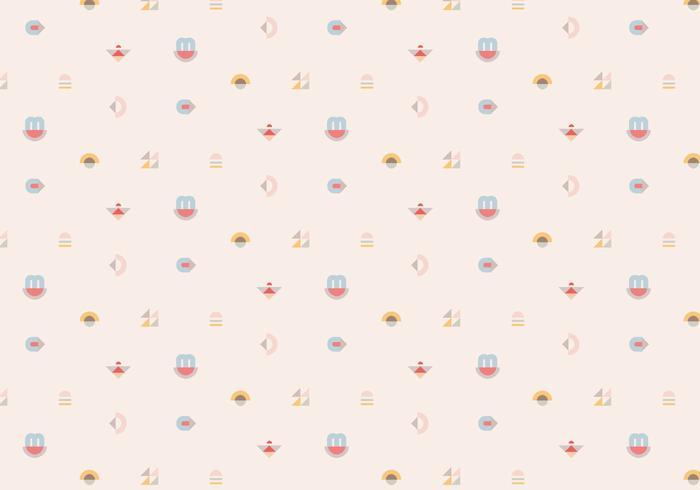 Cute Cactus Wallpaper Macbook Pastel Geometric Pattern Background Download Free Vector