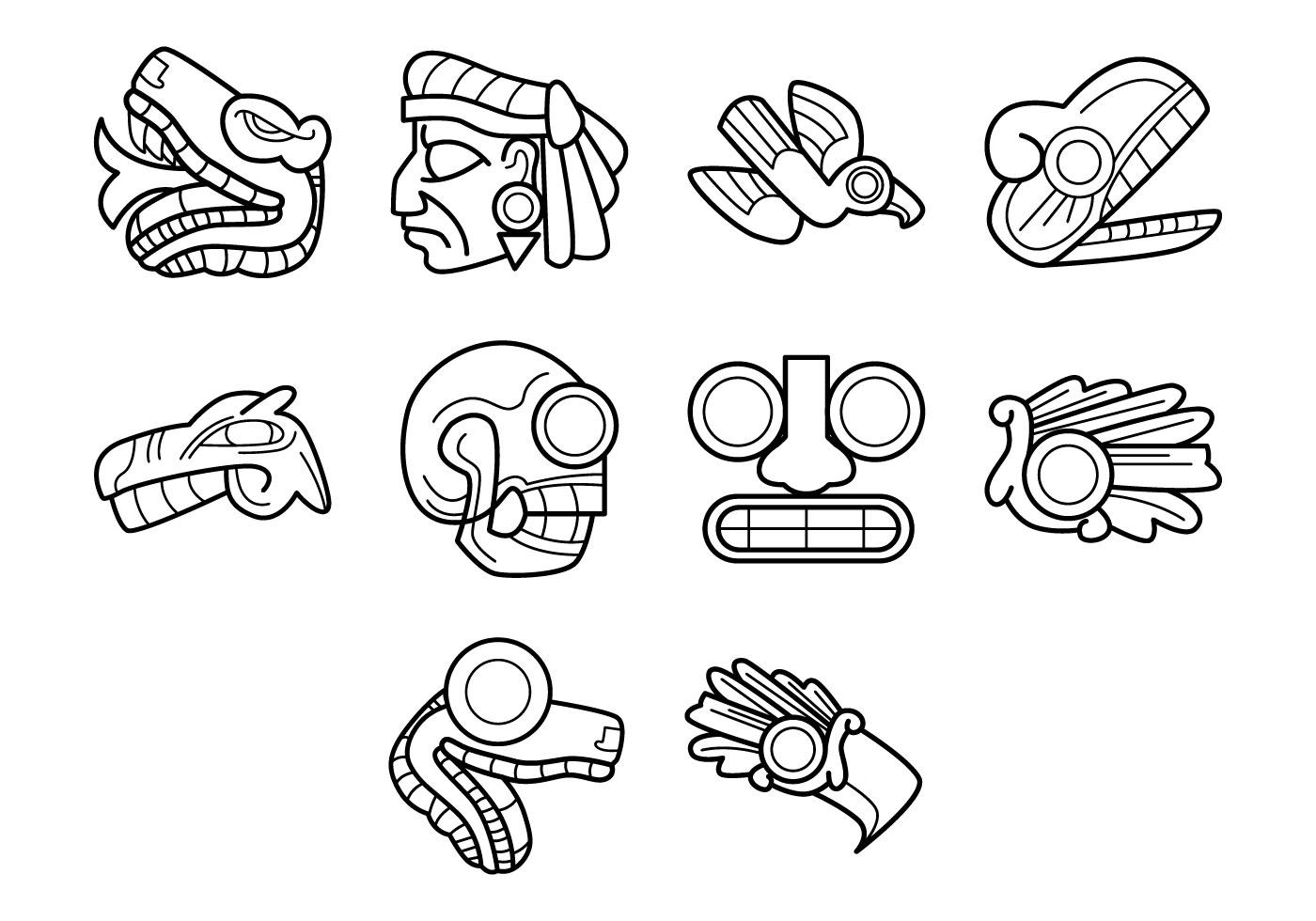 Incas Vector Auto Electrical Wiring Diagram Okl2 Aztec Symbol