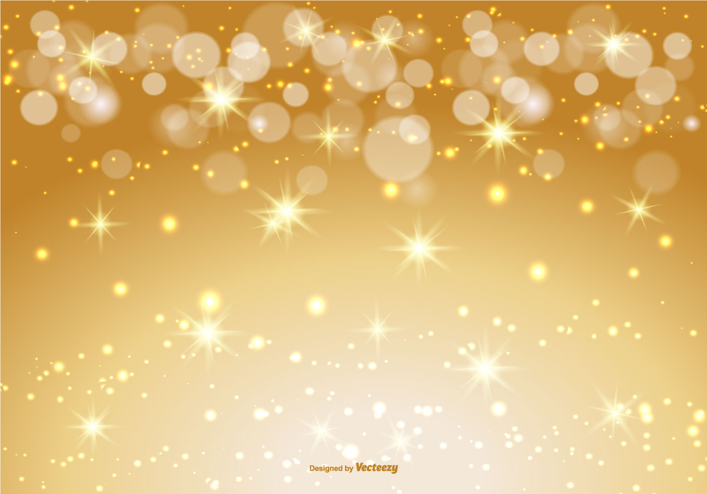 Beautiful Gold Bokeh Sparkle Background Download Free