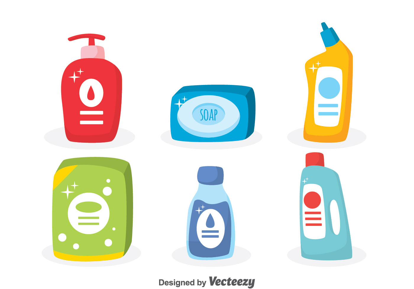 Waschmittel Clipart Soap And Detergent Vector Set Download Free Vector Art