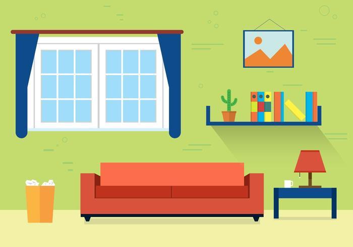 Free Living Room Vector Illustration - Download Free Vector Art - free living room furniture