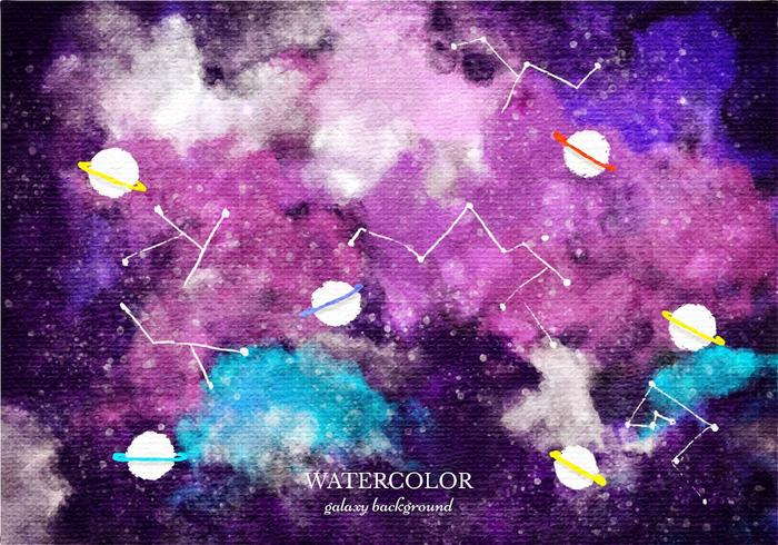 Space Journey 3d Wallpaper Free Vector Watercolor Galaxy Background Download Free