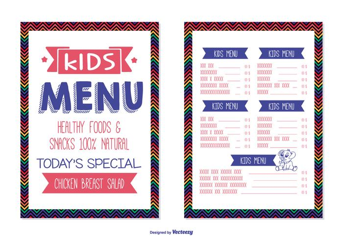 Kids Menu Template - Download Free Vector Art, Stock Graphics  Images