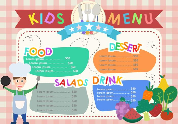 Kids Menu Templates - Download Free Vector Art, Stock Graphics  Images