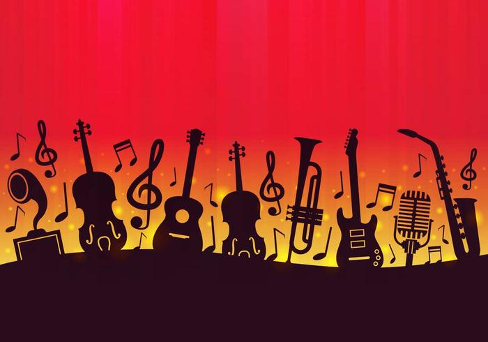 Free Music Background Vector - Download Free Vector Art, Stock