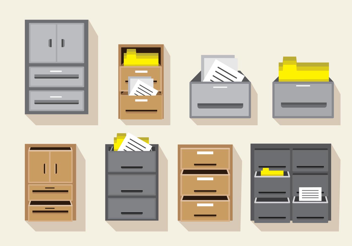 Vector File Cabinet Download Free Vector Art Stock