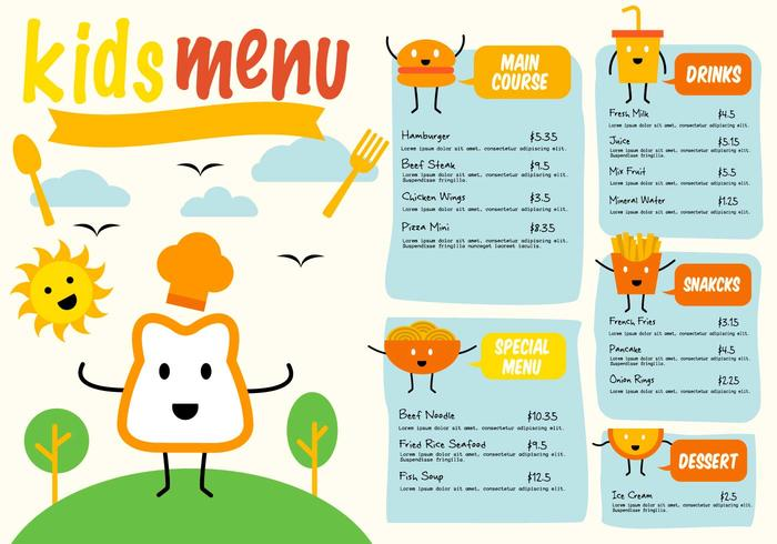 Kids Menu Free Vector Art - (3890 Free Downloads)