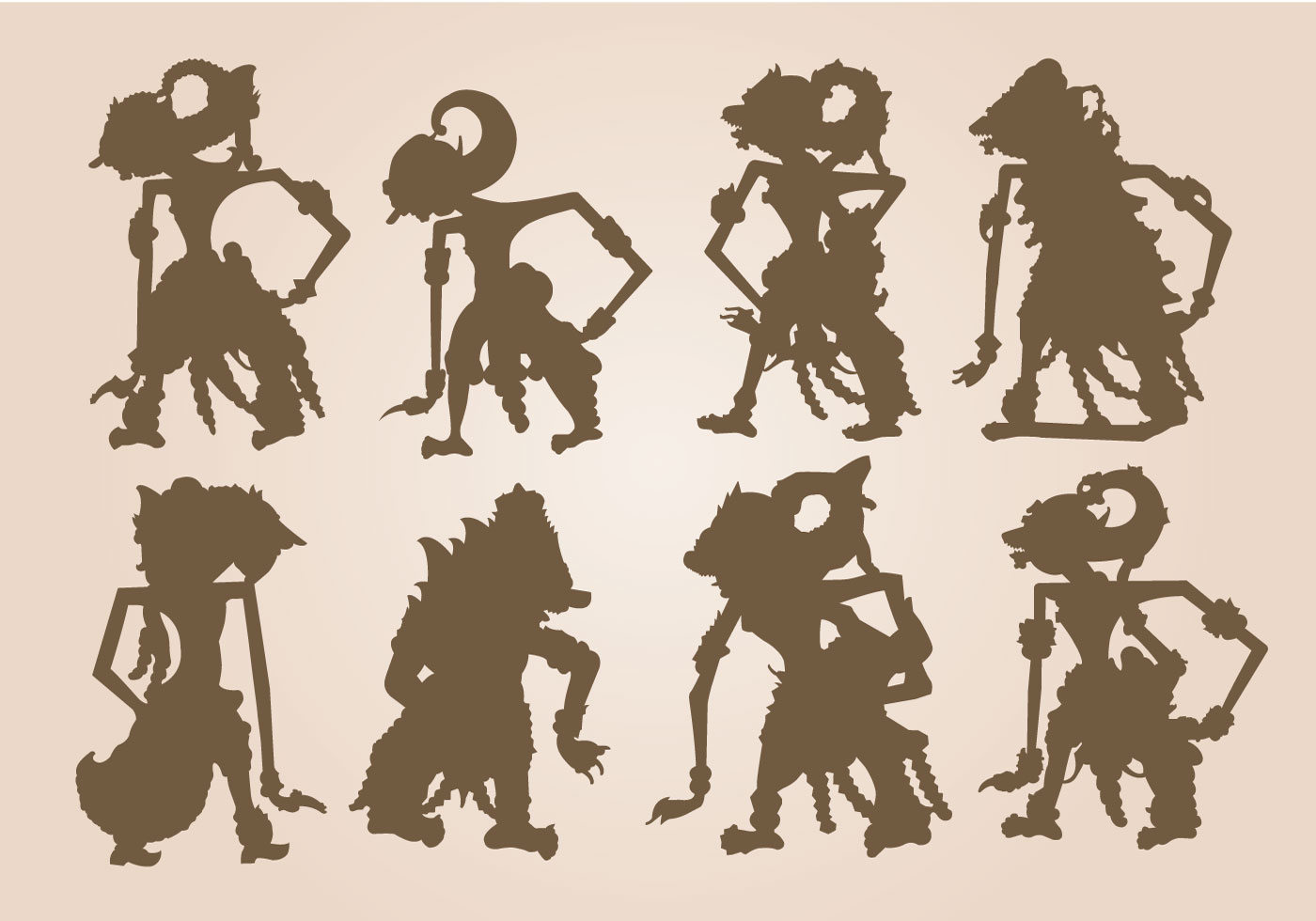 Indonesian Shadow Puppets Templates - Costumepartyrun