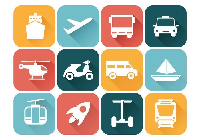 Simple Wallpaper Cute Transportation Icons Vector Download Free Vector Art
