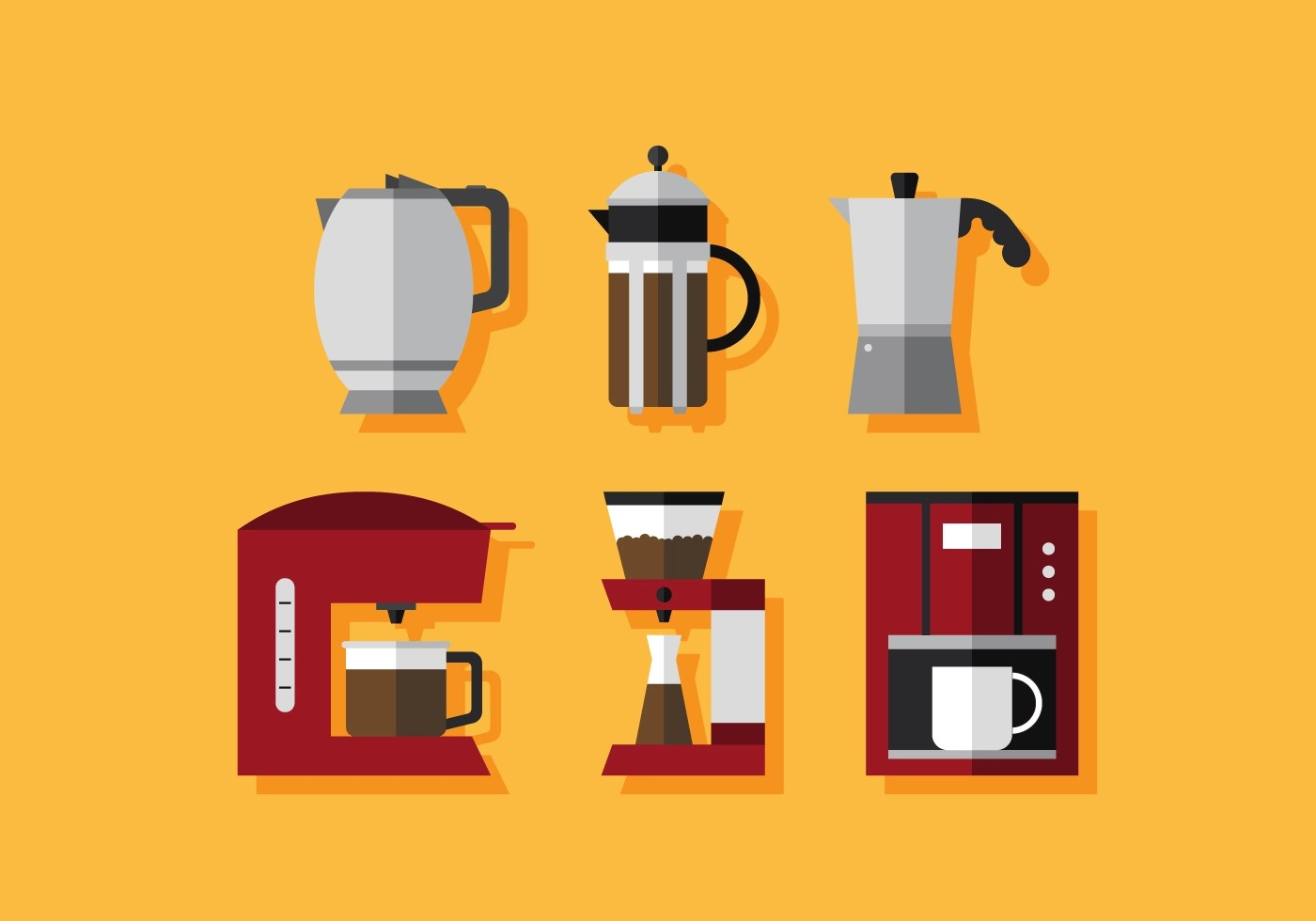 Coffee Art Maker Set Coffee Maker Free Vector Art 2085 Free Downloads