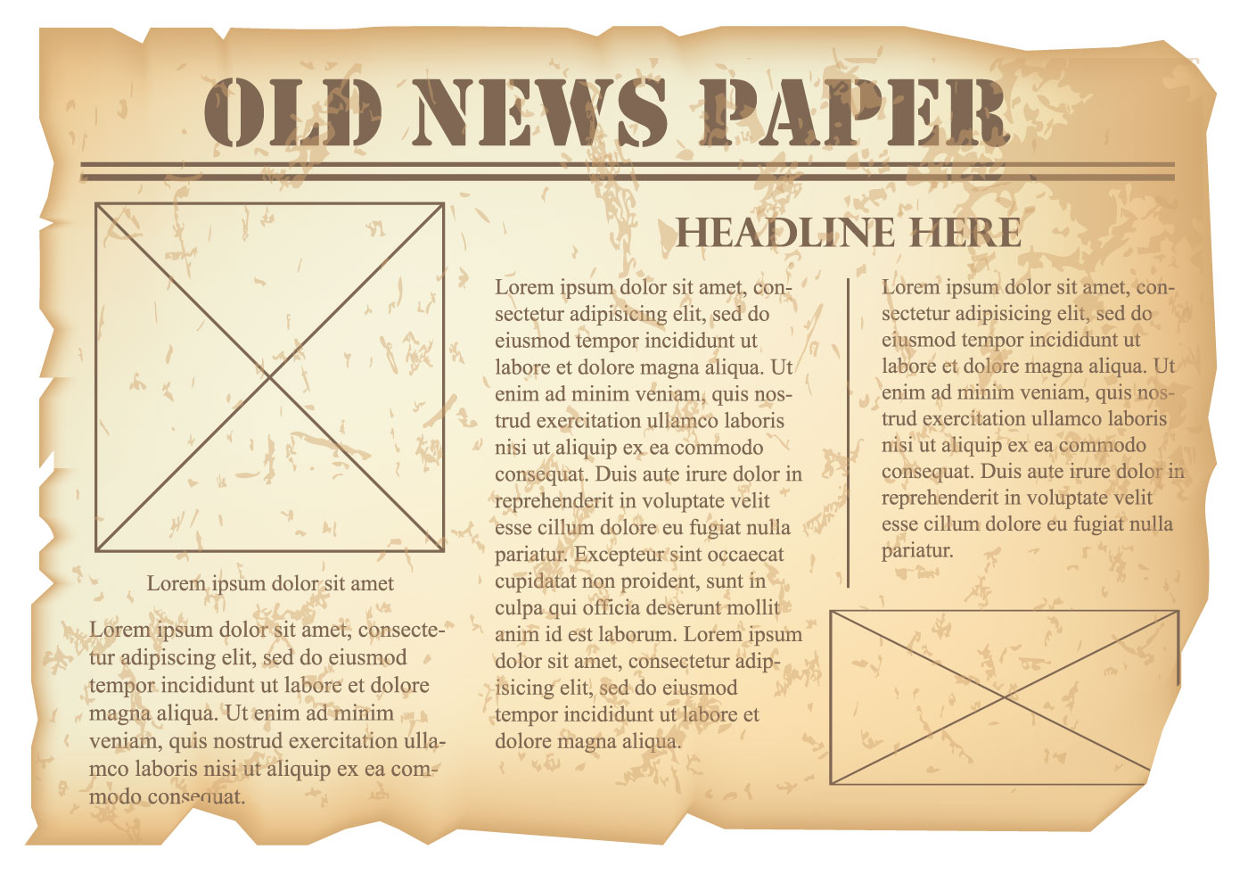 Old Newspaper Vector Download Free Vector Art Stock