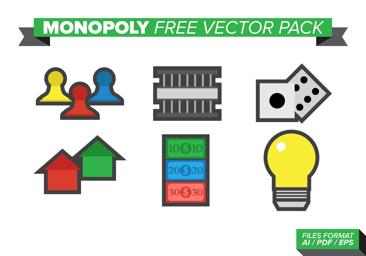 Monopoly Game Vector Monopoly Free Vector Pack Download Free Vectors Clipart