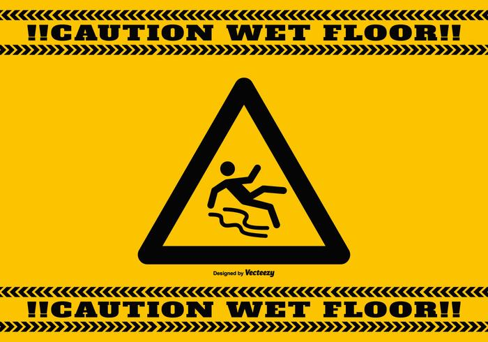 Wet Floor Caution Background Download Free Vector Art