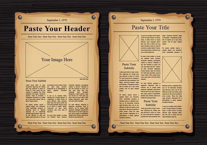 Newspaper Free Vector Art - (12779 Free Downloads) - old newspaper template