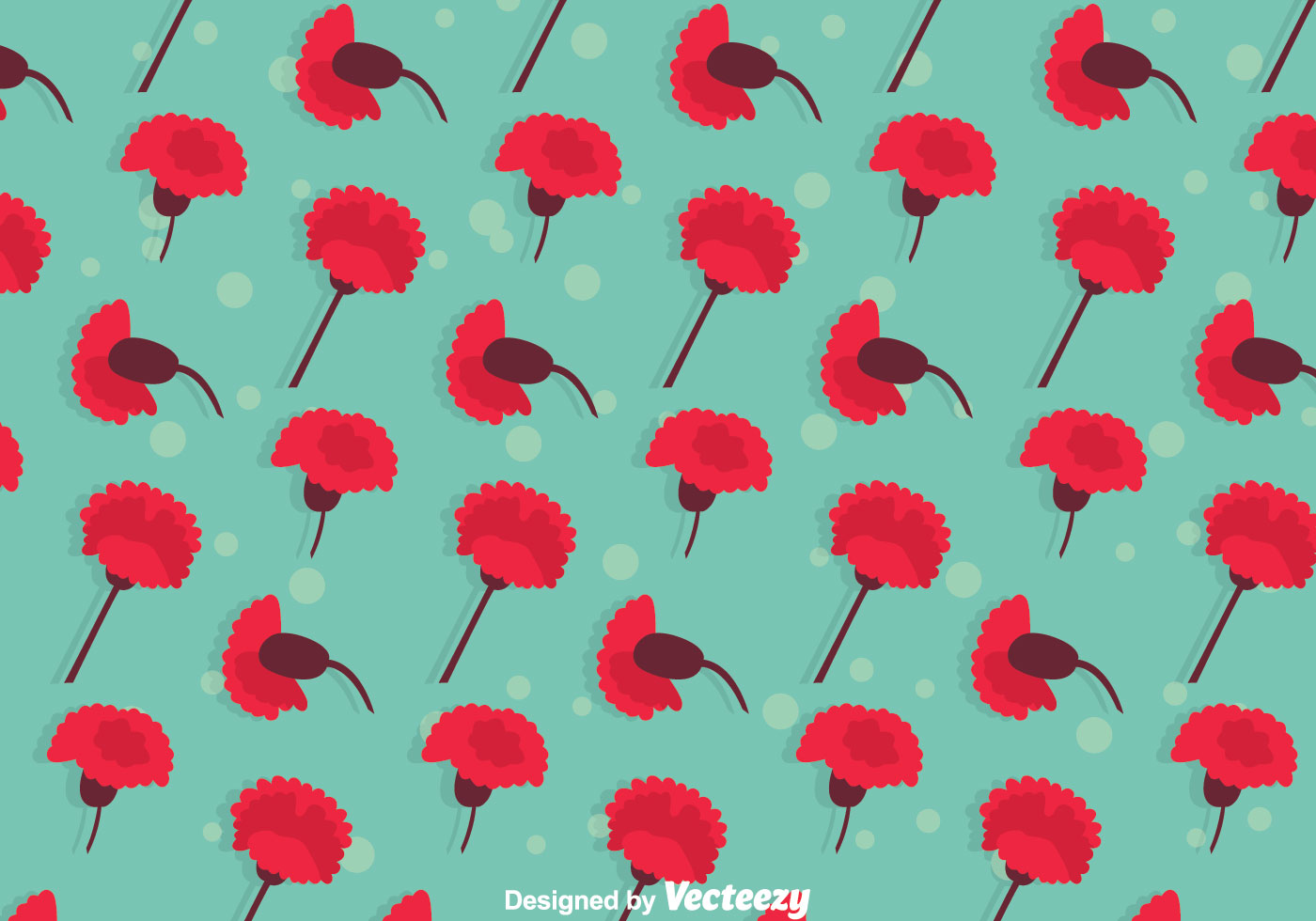 Carnation Flowers Pattern Download Free Vector Art