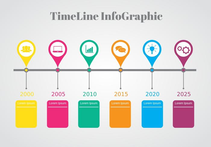 Colorful Timeline Infographic Vector - Download Free Vector Art