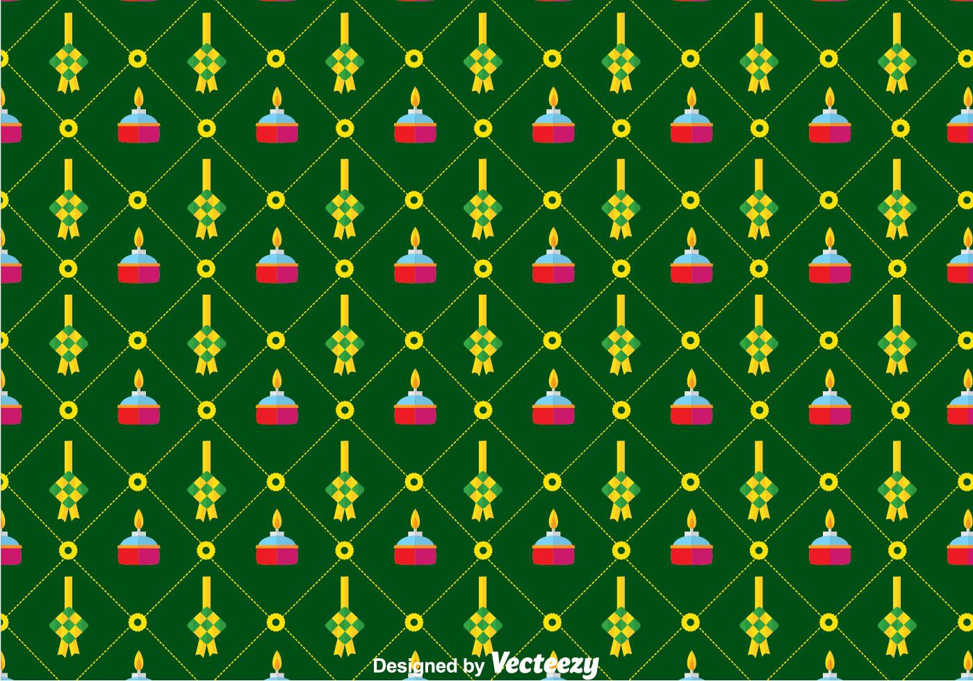 Wallpaper Doodle Cute Flat Ketupat Pattern Background Download Free Vector Art
