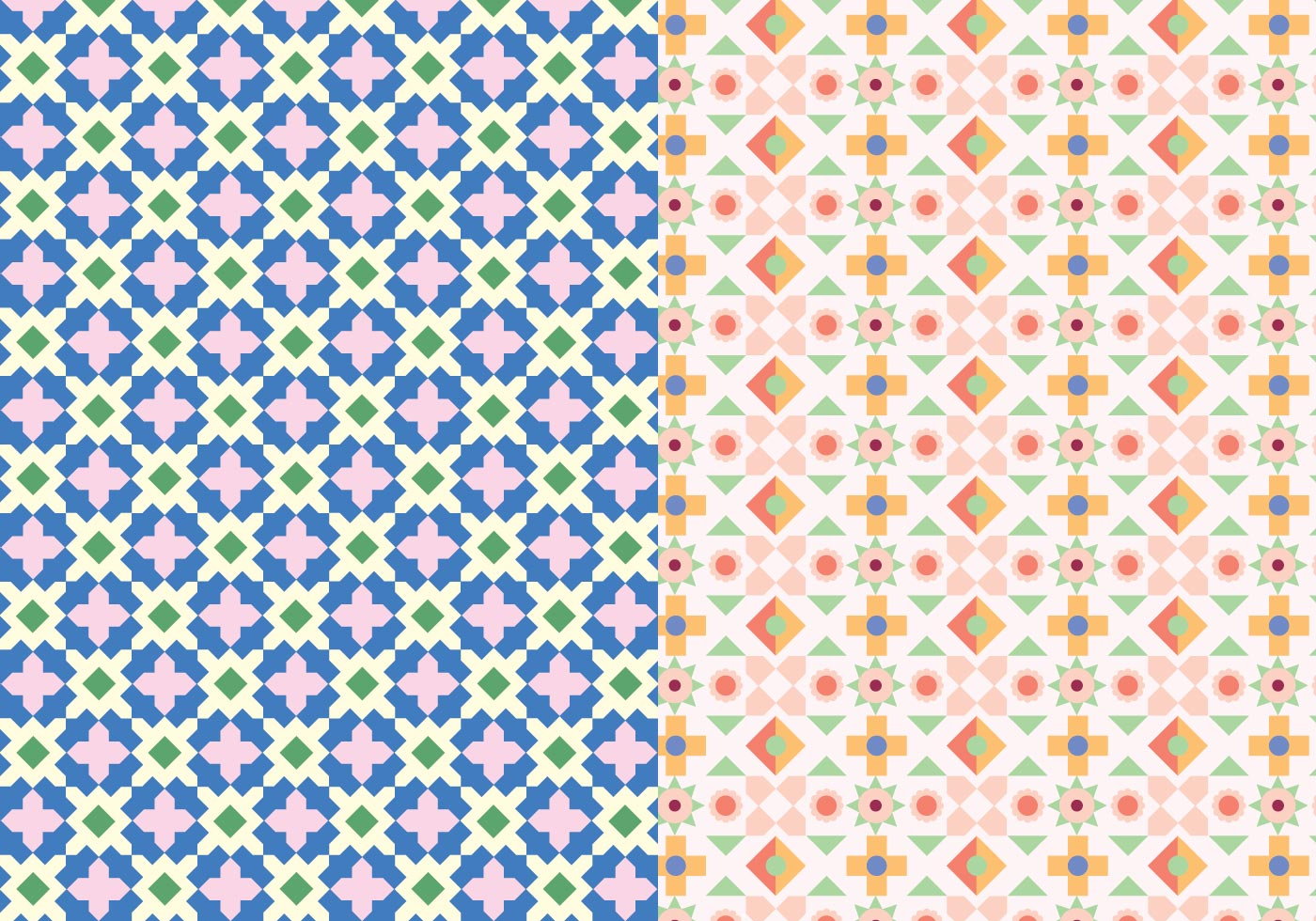 Decorative Mosaic Pattern Download Free Vector Art