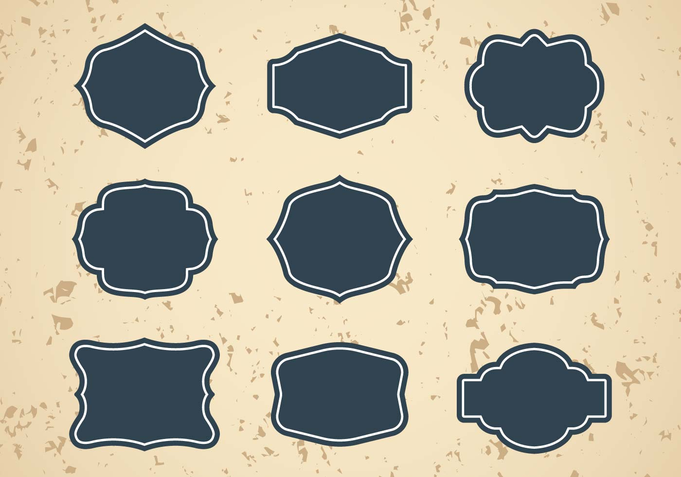 Free vintage frames or cartouches vector download free