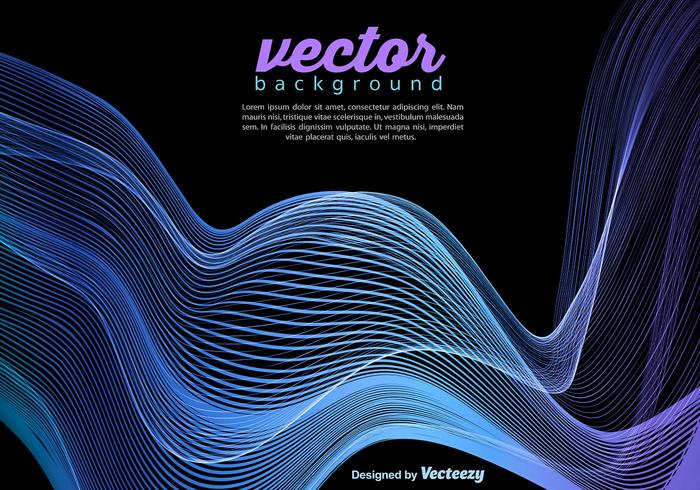 Vector Blue Wave Template On Black Background - Download Free Vector