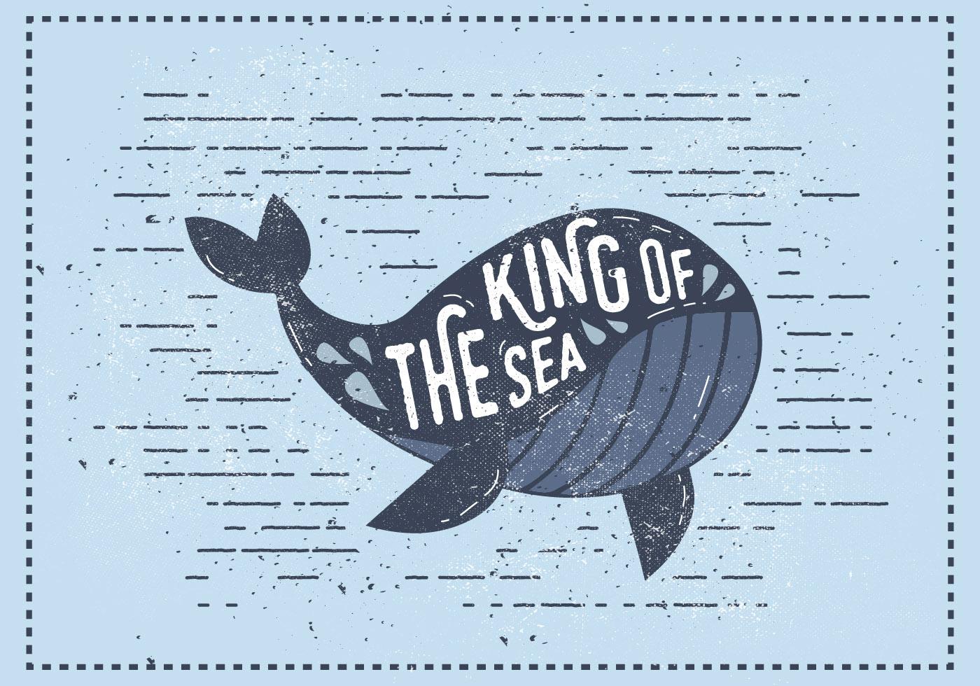 Cute Slogan Wallpaper Vintage Whale Vector Illustration Download Free Vector