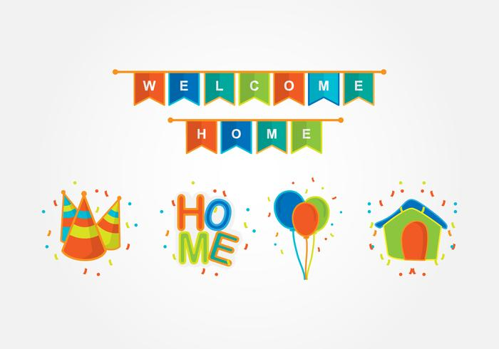 Welcome Home Party Decoration - Download Free Vector Art, Stock