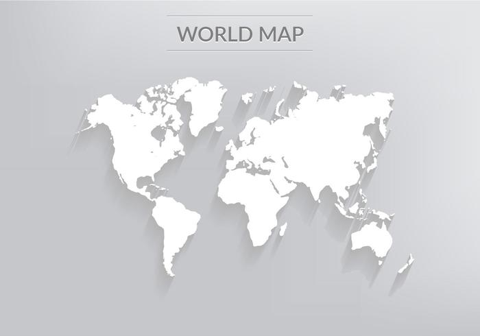 Free Vector World Map With Shadows - Download Free Vector Art, Stock