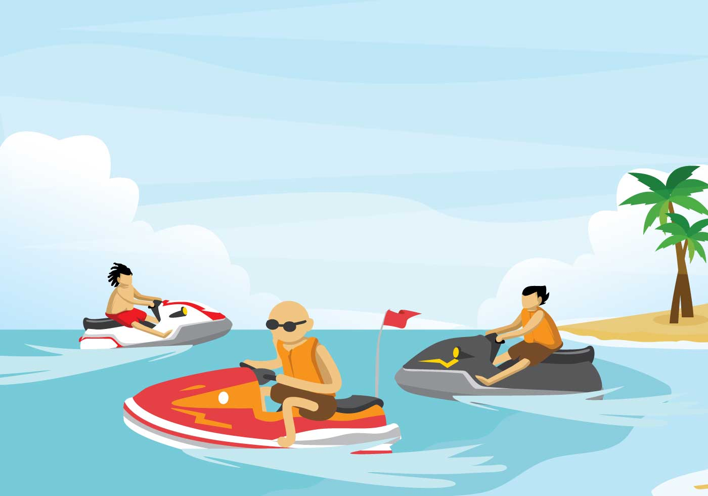 Gratis Jet Ski Free Jet Ski Illustration Download Free Vector Art