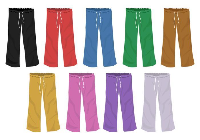 Set Of Full Color Templates Sweatpants Blank Design - Download Free