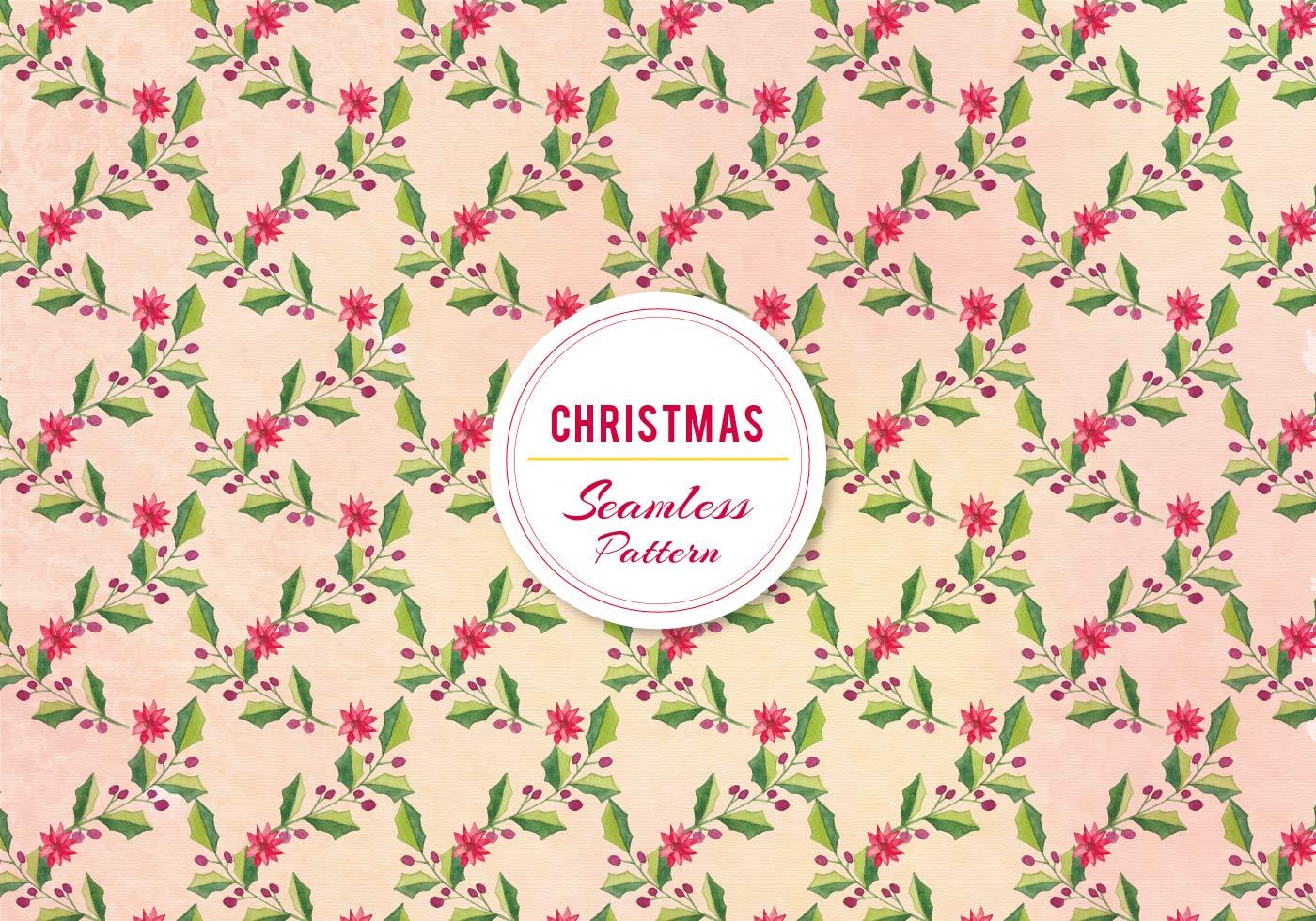 Cute Pink Snowman Wallpaper Vector Christmas Holly Pattern Download Free Vector Art