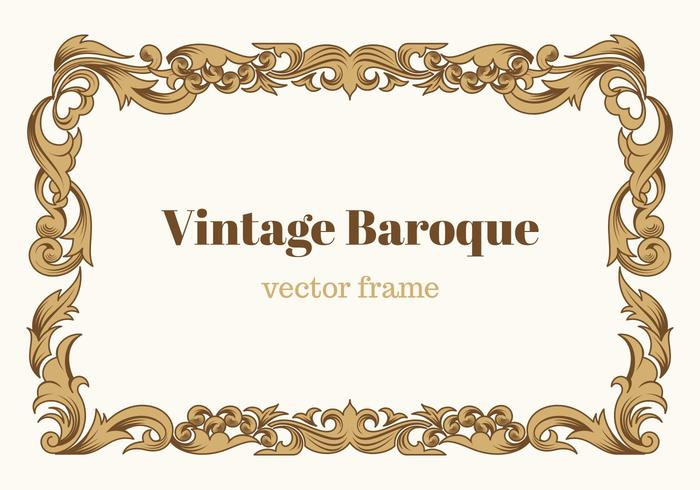 Vintage Baroque Vector Frame Download Free Vector Art
