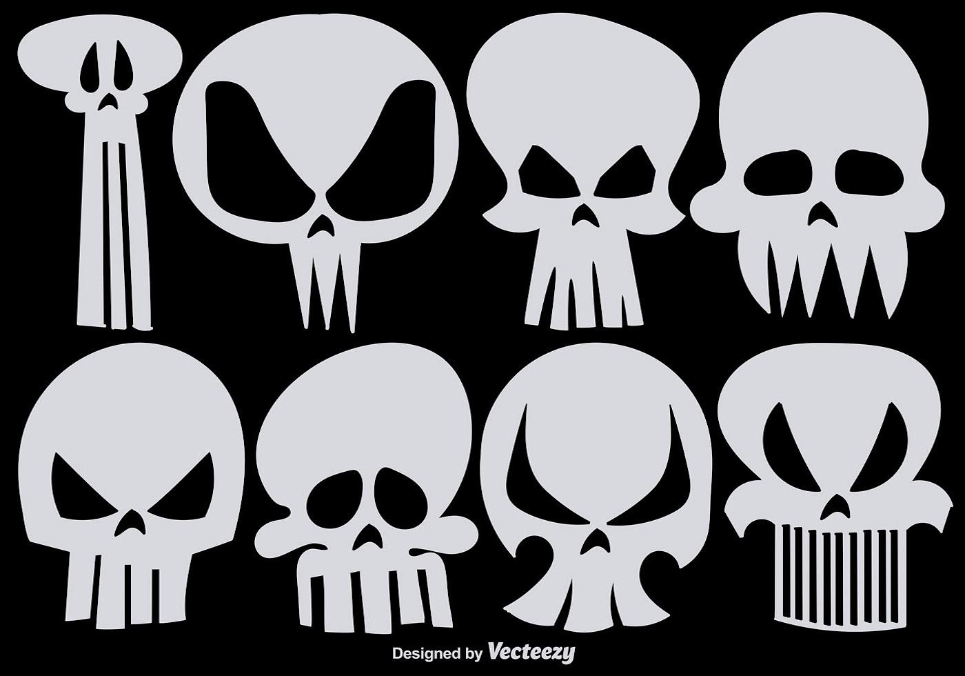 Skeleton Pattern Wallpaper Cute Set Of Vector Hand Drawn Skulls Download Free Vector Art