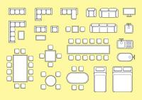 Floorplan Furniture Vector - Download Free Vector Art ...