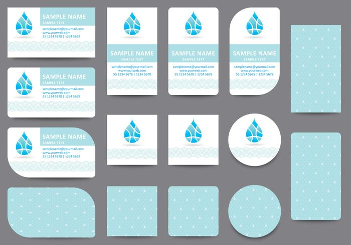 Water Name Card Templates - Download Free Vector Art, Stock Graphics
