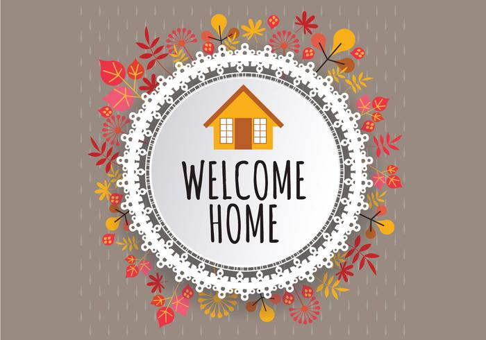 Welcome Home Fall Sign Vector - Download Free Vector Art, Stock