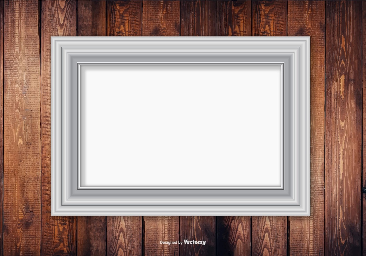 Wall Mirror No Frame Silver Frame On Wood Wall Background Download Free