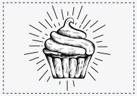 Hand Drawn Cupcake Background - Download Free Vector Art ...