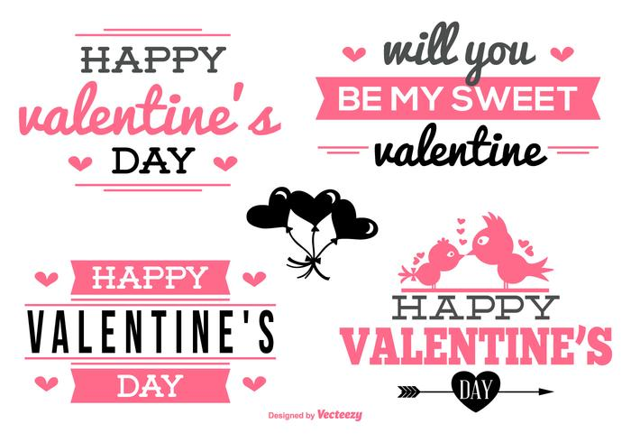 Valentine\u0027s Day Labels Collection - Download Free Vector Art, Stock