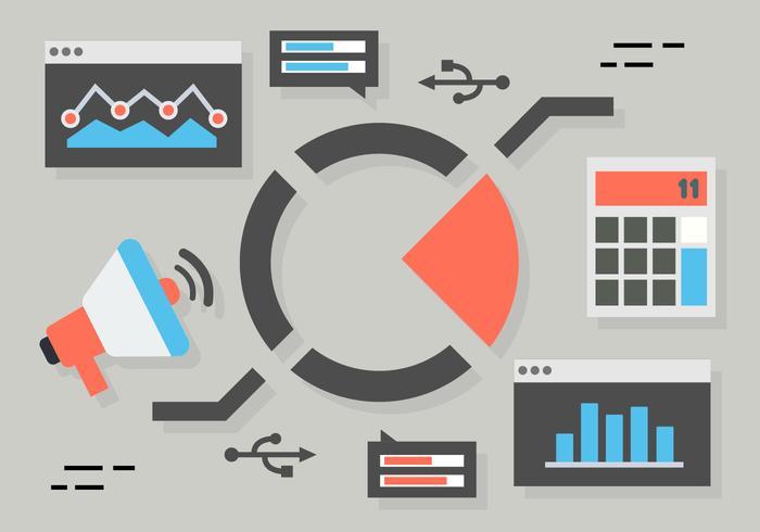 Flat Digital Marketing Concept Vector - Download Free Vector Art