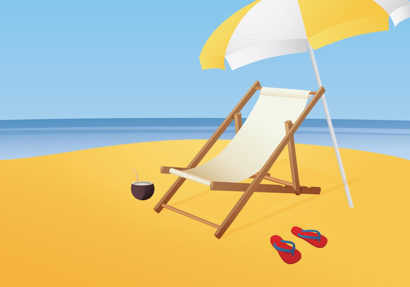 Free Illustration Of Beach Chair Vector Download Free